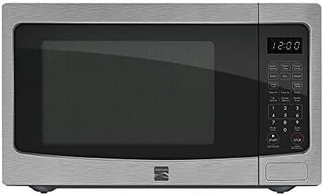 Kenmore 1.2 cu. ft. Countertop Microwave w/ EZ Clean Interior Stainless Steel 72123