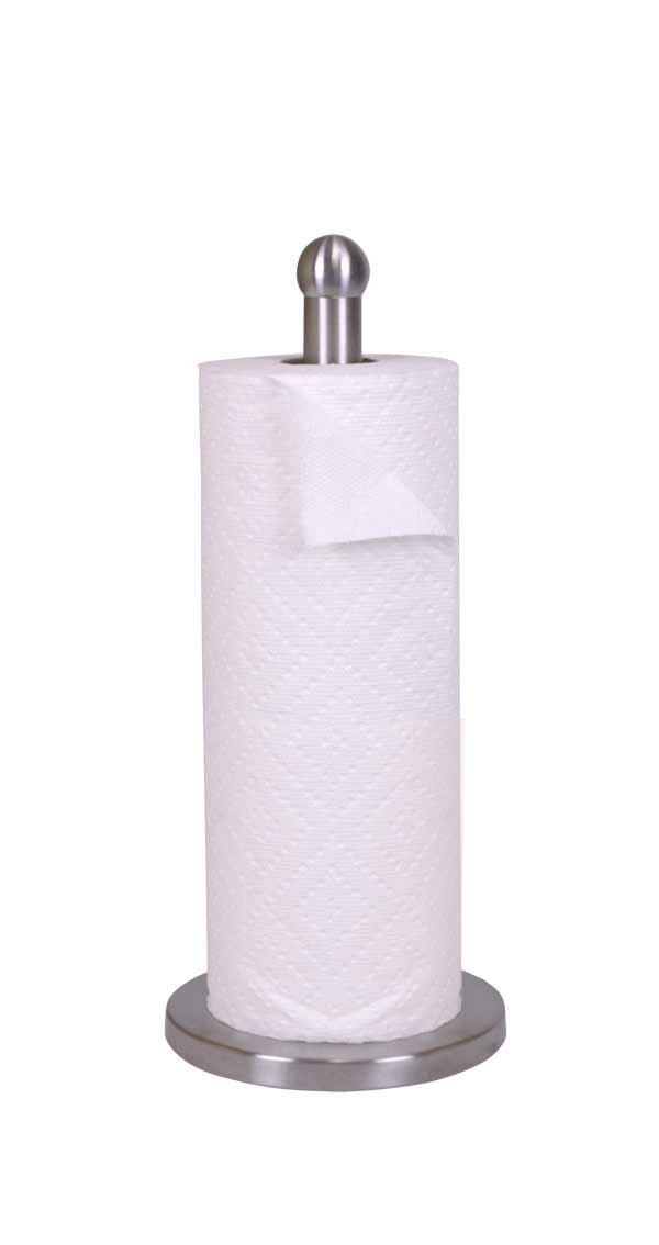 Home Basics PH01044 Stainless Steel Paper Towel Holder (1, A), Silver HDS