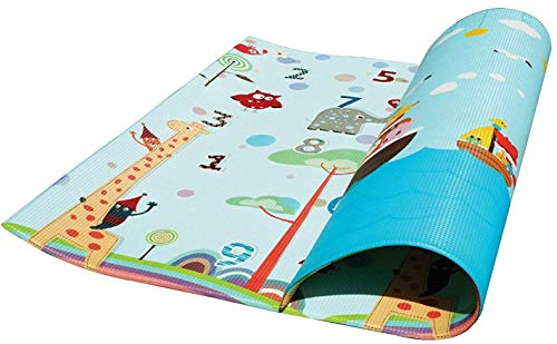 Play Mat For Babies, Toddlers and Kids PEP STEP | Large Baby Mat 70 inch x 78 inch | Latest Child-Friendly Cushioning Technology | Non-Toxic Tested Safety Standards | Baby Learning Development Design