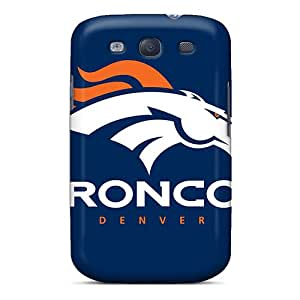 Shock-Absorbing Hard Phone Cover For Samsung Galaxy S3 With Custom Attractive Denver Broncos Image AaronBlanchette