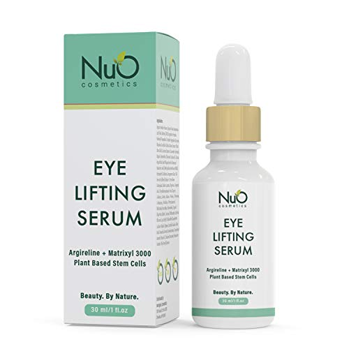 NuOrganic Age Defying Eye Lifting Serum with Hyaluronic Acid | Plant Based Stem Cells | Active Peptides | Protects & Revives Under Eye Area & Gives it a Youthful Look ● 30ML