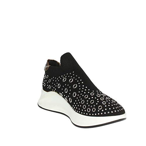 Alta Sneakers Pregunta Donna Nero Pcg02001 HRCwT1xqO