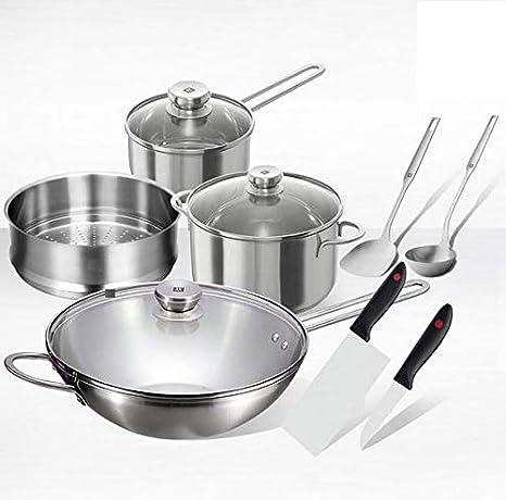 Set de utensilios de cocina de acero inoxidable Sartén ...