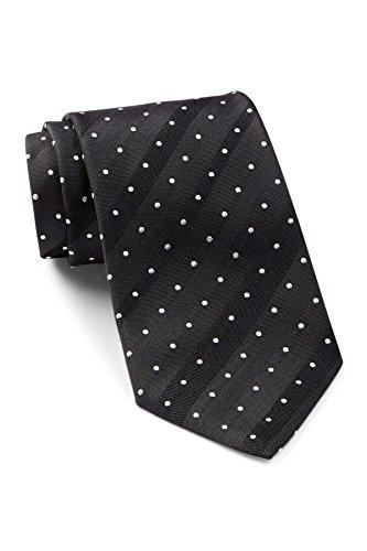 Boss Hugo Boss Diagonal Pin Dotted Pattern Italian Silk Tie, Black (Hugo Boss Silk)