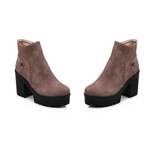 Womens Seams 5 Boots Platform Frayed BalaMasa ABL10500 10 Urethane Zip I7zqxwd