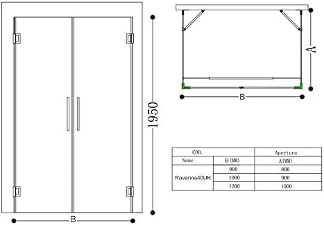 Mampara de ducha Ravenna40 8 mm ESG en cristal transparente con plato de ducha Nano 100 x 120 cm: Amazon.es: Bricolaje y herramientas