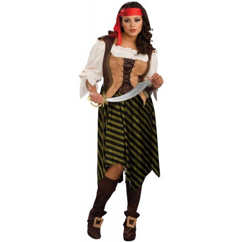 [Secret Wishes Full Figure Pirate Wench Costume] (Full Pirate Costumes)