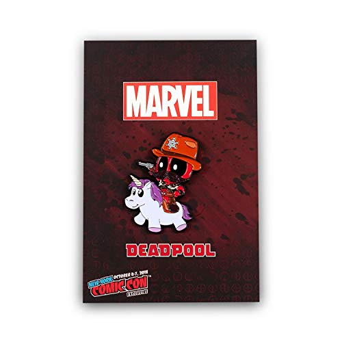 Marvel Deadpool Exclusive Enamel Collector Pin | Official Sheriff Deadpool Riding A Unicorn Collector Pin