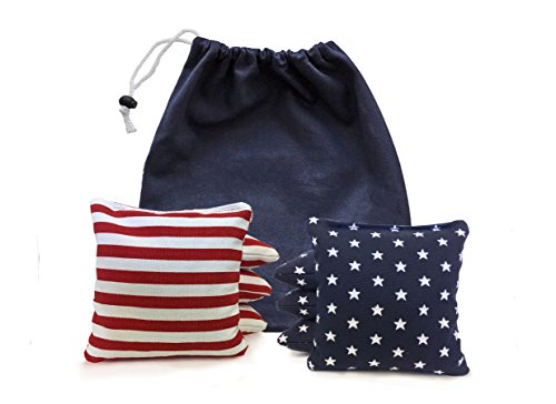 - 8 Standard Corn Filled Cornhole Bags made with Regulation Duck Cloth (Tote Bag Included)