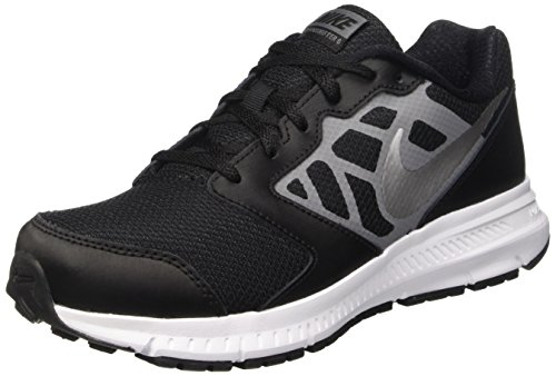 NIKE Boys' Downshifter 6 Running Shoe (GS/PS), Black/Metallic Silver/Cool Grey/White, 6 M US Big Kid
