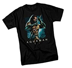 This youth T-shirt is an officially licensed Aquaman Movie product from DC Comics, assembled in the USA. The shirt features our cool With Trident design printed on 100% cotton.
