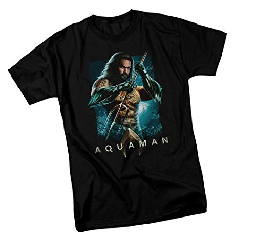 Aquaman Movie, with Trident, Adult T-Shirt, XXX-Large ()