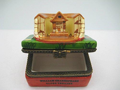 William Shakespeare London Globe Theatre Jewelry Box (Dutch Box)