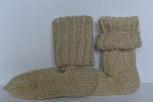 extra-thick-socks-winter-women-men-knee-high-sheep-wool-handmade-knitted-knit-warm-ski-climb-bed-boo