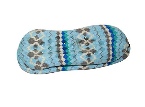 Pantofole Da Donna Sherpa Antiscivolo Stivaletti Da Interno A Maglia (sll) (sll-3320) -blu