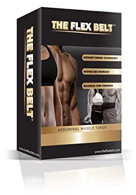THE FLEX BELT Ab Belt Workout - FDA Cleared to Tone, Firm and Strengthen the Abdominal Muscles by The Flex Belt