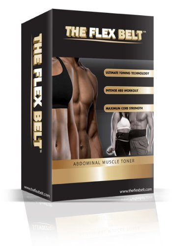THE FLEX BELT Ab Belt Workout – FDA Cleared to Tone, Firm and Strengthen the Abdominal Muscles by The Flex Belt