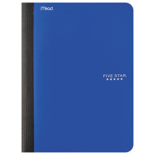 "Five Star Composition Book / Notebook with Pocket, 100 Sheets, 9-3/4"" x 7-1/2"", Cobalt Blue (73518)"