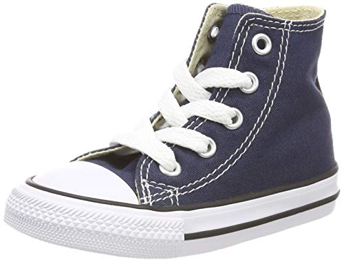 Converse Kid's Chuck Taylor All Star High Top Shoe, Navy, 3 Infant (0-12 Months) -