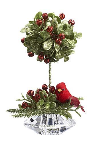 Ganz Teeny Cardinal Mistletoe Topiary ()