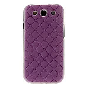 SOL Purple Gridding Pattern Plastic Protective Hard Back Case Cover for Samsung Galaxy S3 I9300
