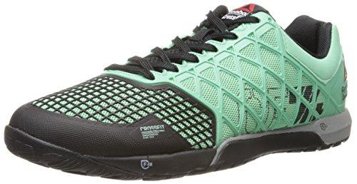 Reebok Men's Crossfit Nano 4.0 Training Shoe, Mint Glow/Black/Metallic Silver, 11 M US