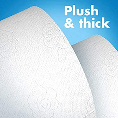 QBABY 3-Ply soft Toilet Paper White Rolls Paper Household Bath Tissue- Natural Wood Pulp Hand Towels Toilet Paper for Daily: Kitchen & Dining