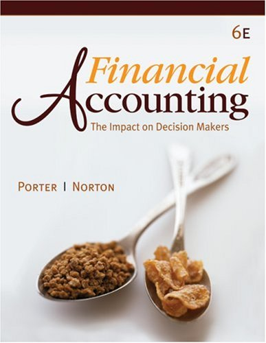 Financial Accounting: The Impact on Decision Makers (Available Titles CengageNOW)