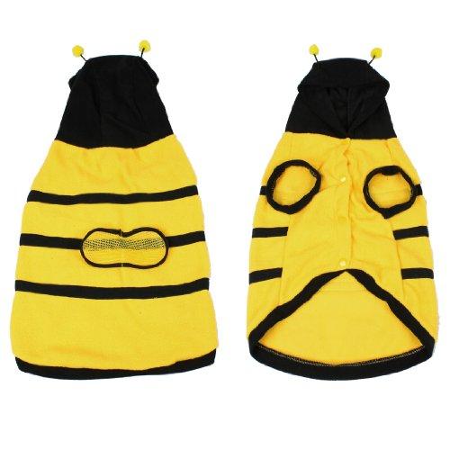 uxcell Dress up Costume Bumblebee Bee Doogie Dog Coat Clothes Pet Apparel XXL (Pet Bumblebee Costume)