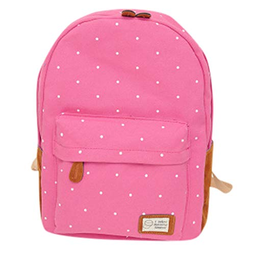 CCFAMILY Woman 2019 New Fashion Wave Point Backpack Student School Bag Travel Backpack ()