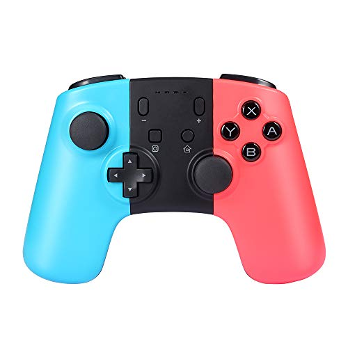 Pekyok SW07 Wireless Pro Controller For Nintendo Switch, Bluetooth Gamepad Joypad for Nintendo Switch Supports Gyro Axis and Dual Vibration – Red(Third-Party Product)