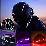 FeiliandaJJ LED Helmet Light Kit Night Riding Safety Signal Flashing Stripe Bar Sticker Lamp Brake Signal Light for Motorcycle Cycling (Green)