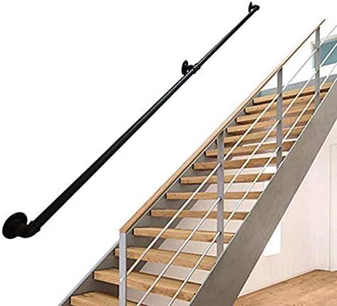 Pasamanos Escalera 25-550cm Multifunción Tubería de Hierro Forjado Escalera Barandilla Valla Niños Mayores Barandilla Interior Mango de barandilla Antideslizante: Amazon.es: Hogar