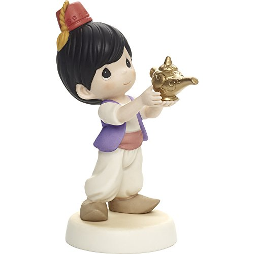 Precious Moments, Disney Showcase Aladdin Figurine,  You're My Favorite Wish, Porcelain, - Porcelain Disney