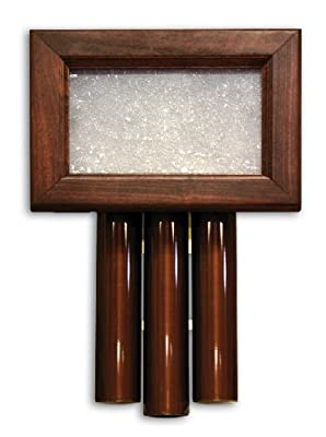 Heath Zenith 61 Wired Door Chime with Solid Beech Mahogany Finish Cover and Oil Rubbed Bronze Tubes