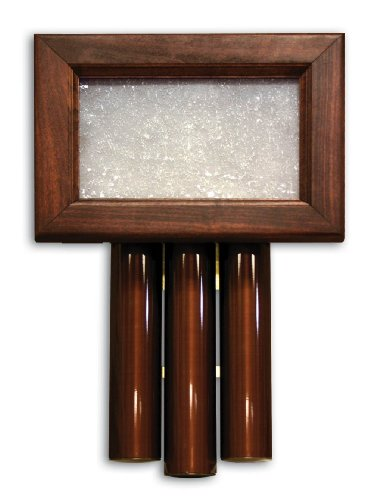 Heath Zenith 61 Wired Door Chime with Solid Beech Mahogany Finish Cover and Oil Rubbed Bronze Tubes by Heath/Zenith