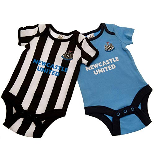 Newcastle United FC Baby ST Bodysuit (Pack of 2) (6-9 Months) (Black/White/Blue)