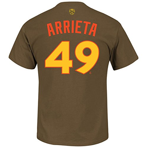 ac15a359153 Amazon.com   Jake Arrieta Chicago Cubs Majestic 2016 MLB All-Star Game Name    Number Men s T-Shirt - Brown   Sports   Outdoors