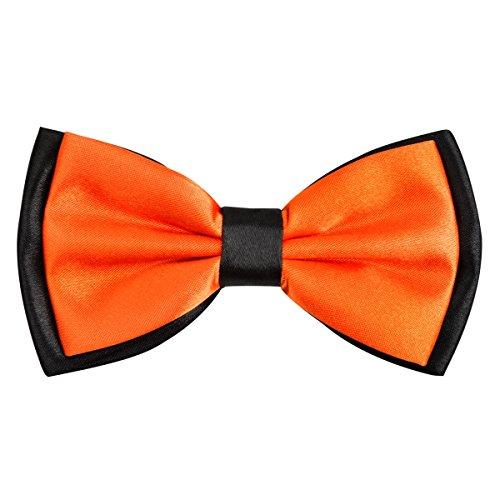 Bowtie for Men Fancy Adjustable Pre Tied Wedding Party Bow Ties, Orange ()