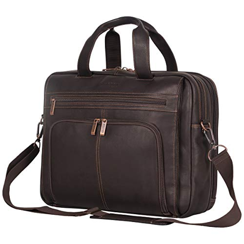 cace0beff8a6 Kenneth Cole Reaction Colombian Leather Dual Compartment Expandable 15.6