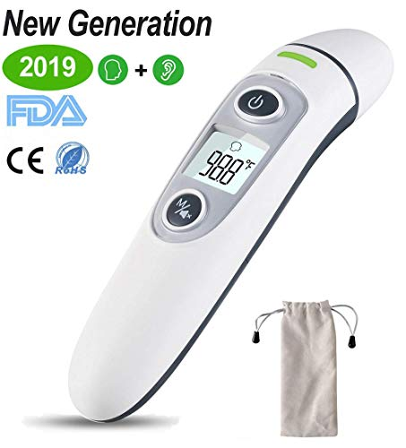 Ear Thermometer with Forehead Function - FDA Approved for Baby and Adults - Upgraded Infrared Lens Technology for Better Accuracy - New Medical Algorithm