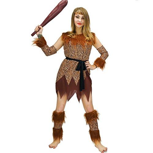 flatwhite Adult Women's Wild Caveman Costumes, Woman -