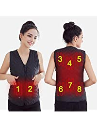 USB Temperature Adjustable Electric Heated Vest,Warming Jacket Heat Waistcoat