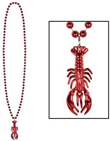 Beads w/Crawfish Medallion 33in. (3/Pkg) Pkg/3