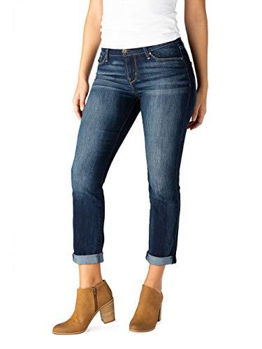- Signature Women's Modern Slim Cuffed Jeans 5 Pocket Cuff Jeans (Constallation, 4)
