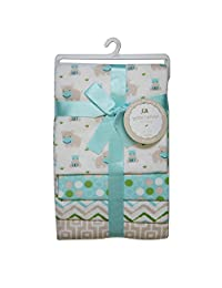 CRIBMATES Petite L'Amour Receiving Blankets Baby Boys Happy Hippo