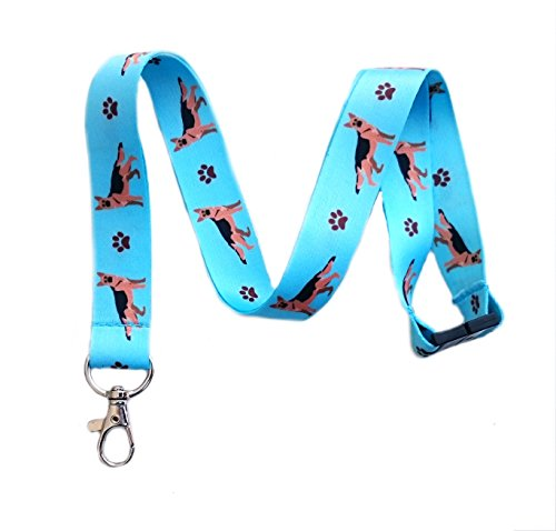 German Shepherd Dog Breed Print Break Away Lanyard Key Chain Id Badge ()