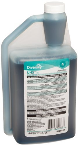 Johnson Diversey 4529489 UHS Floor Cleaner SC Accumix, Blasts The Nastiest Crud & Grime, 1 quart (pack of 6) by Diversey