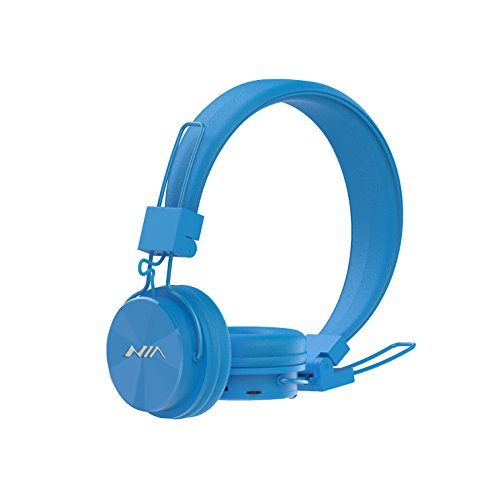 Wireless Bluetooth Headphones On Ear, Aitalk X3 Portable Headsets Ergonomic Fit Superb Comfort with Microphone, Support TF Card, FM Radio(Blue)