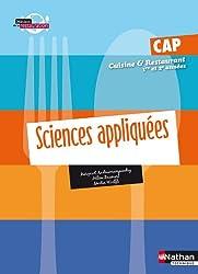Sciences appliquées - CAP Cuisine et Restaurant